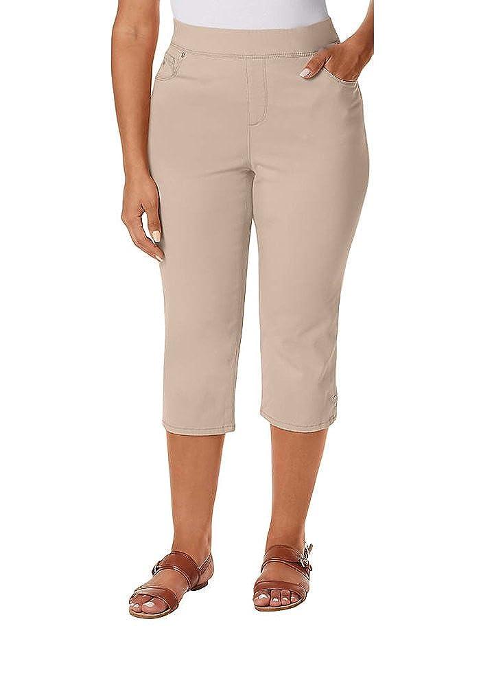 3bebe601a61 GLORIA VANDERBILT Women s Plus Size Avery Skimmer Capris at Amazon Women s  Clothing store