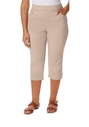 bcba467833d GLORIA VANDERBILT Women s Plus Size Avery Skimmer Capris at Amazon Women s  Clothing store