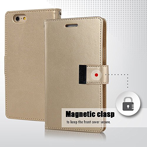 iPhone 5G/5S/5C/5SE Hülle - VENTER® Stand Hülle Etui with Karte Halterung Leder Wallet Klapphülle Flip Book Case TPU Cover Bumper Tasche Ultra Slim für Apple iPhone 5G/5S/5C/5SE