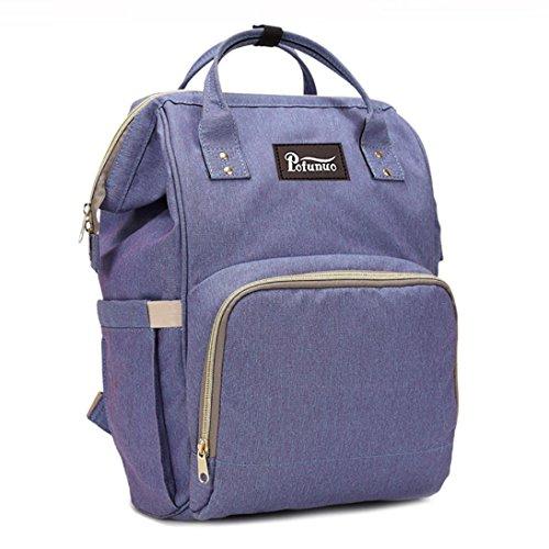 Liraly Mummy Bag Nappy Bag Large Capacity Baby Bag Travel Backpack Desiger Nursing Bag (Purple) -