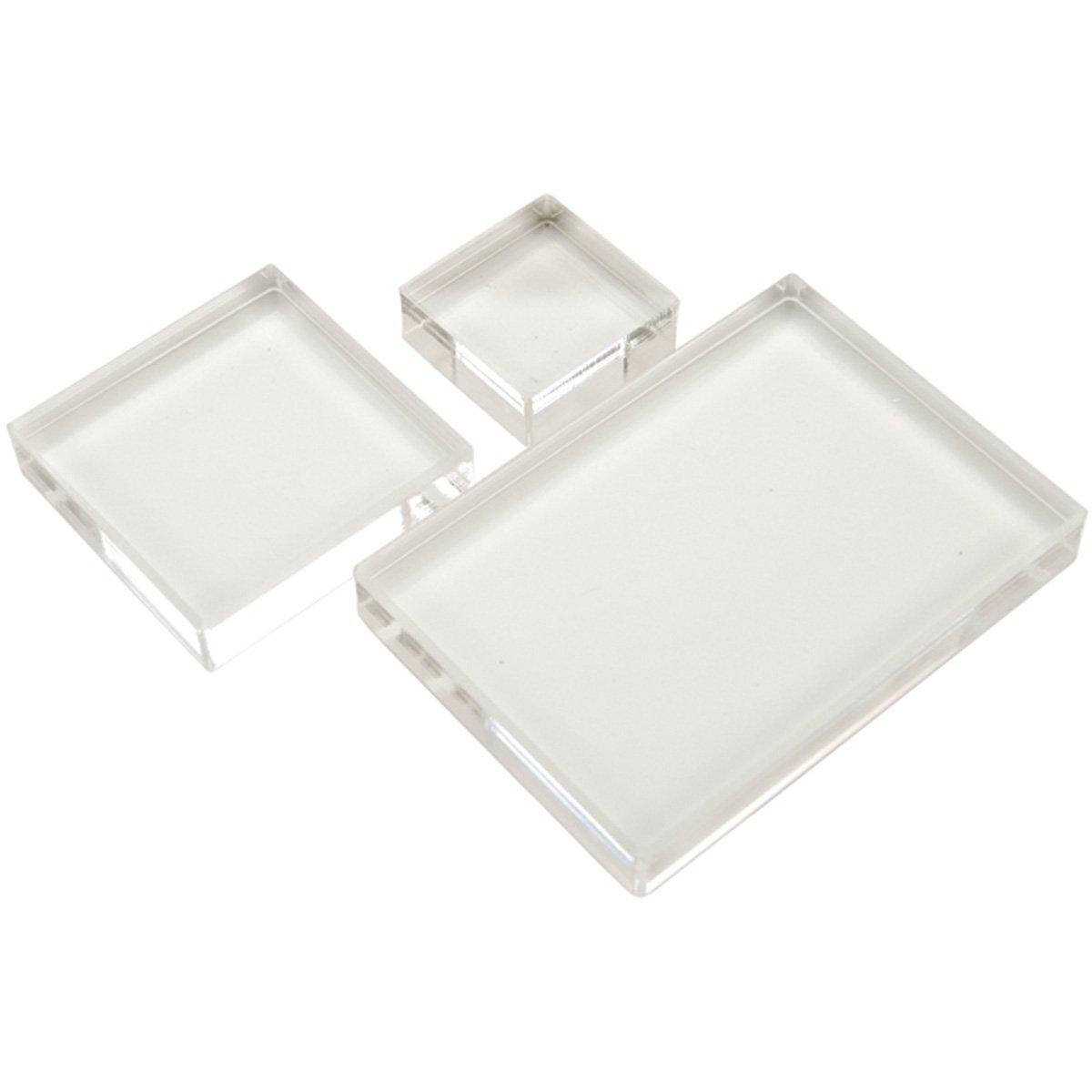 Apple Pie Memories KITAH006 - Basi per timbri acrilici, confezione da 3, colore: Trasparente 350552
