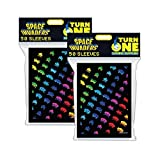 Space Invaders Rainbow Attack Card Sleeves 50ct (2 Packs)