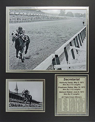 "Secretariat 11"" x 14"" Unframed Matted Photo Collage by Legends Never Die, Inc."