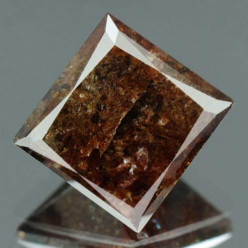 2.71 cts. CERTIFIED Princess Brilliant Cut Black Red Loose Natural Diamond 9844
