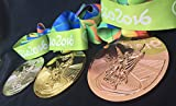2016 Rio Olympic Souvenir Medals set : Gold, Silver, Bronze and ribbons