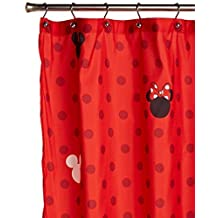 Disney Mickey and Minnie 70 x 72 Fabric Shower Curtain by Disney