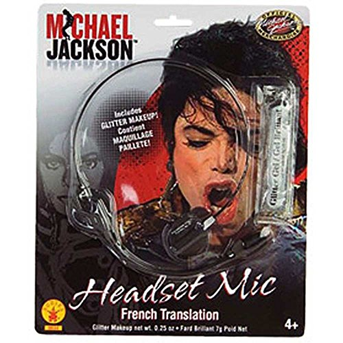 [Rubie's Costume MJ Microphone Headpiece] (Childrens Michael Jackson Costumes)