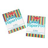 Melissa & Doug Easel Paper Pad (Top-Bound Pad, Premium White Bond Paper, 2-Pack with 50 Sheets, 17 × 20 inches, Great Gift for Girls and Boys - Best for 2, 3, 4 Year Olds and Up)