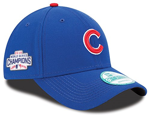 - New Era Mens Chicago Cubs 9FORTY Adjustable 2016 World Series Baseball Hat Blue