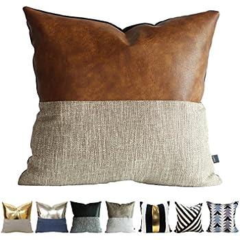 kdays halftan pillow cover designer modern throw pillow cover decorative faux leather pillow cover handmade cushion - Designer Throw Pillow