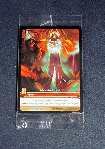 (3) World of Warcraft WoW TCG Alas, Andorhal Dark Portal Extended Art Cards Un