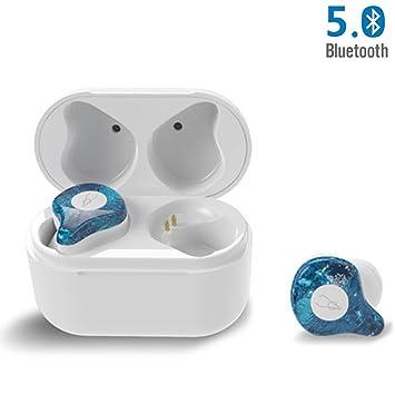 Auriculares Bluetooth GWJ Bluetooth 5.0 Auriculares Estéreo Inalámbricos, Llamada De Auriculares De Dos Lados,