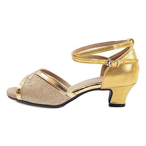 da per da 3 moden ballo Oro Sandali 5 Toe Open Latin donna Tnpxw