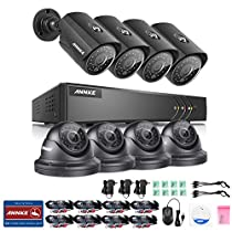 ANNKE 720P Security Camera Sysetm 8-Channel 1080N Video DVR and (8) 1500TVL Outdoor CCTV Cameras with Motion Detection, IP66 Weatherproof Metal Housing, NO HDD