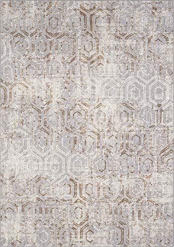 Karastan Cosmopolitan Kew Dove 5' 3'' X 7' 10'' Area Rug (Karastan Geometric Rug)