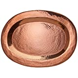 Sertodo Copper Thessaly Platter, 16 Inch X 11 Inch Oval, Hammered Copper