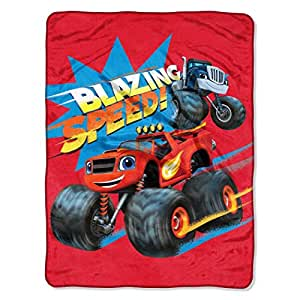 Amazon.com: 1pc 40x50 Red Monster Truck Throw Blanket ...