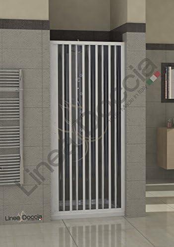 Box Doccia in PVC a soffietto apertura laterale 80 cm 1 lato