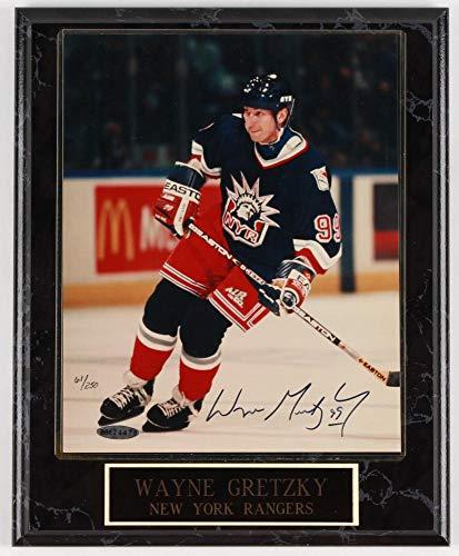 JEM Wayne Gretzky Signed Rangers 11x13 LE Plaque (UDA ()