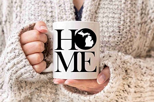 Michigan Mug State Mug Coffee Mug Home Mug Homesick Gift Personalized Mug Custom Mug Smitten Mug Michigan Gift Realtor Gift New Home - Custom Drinkware Personalized