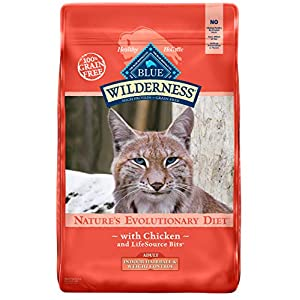 Blue Buffalo Wilderness High Protein Grain Free, Natural Adult Indoor Hairball & Weight Control Dry Cat Food, Chicken 11-lb 87