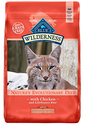 Blue Buffalo Wilderness High Protein Grain Free, Natural Adult Indoor Hairball & Weight Control Dry...