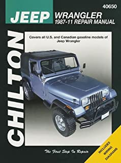 jeep wrangler yj 1987 95 chilton s total car care the chilton rh amazon com 98 Jeep Wrangler 87 Jeep Wrangler