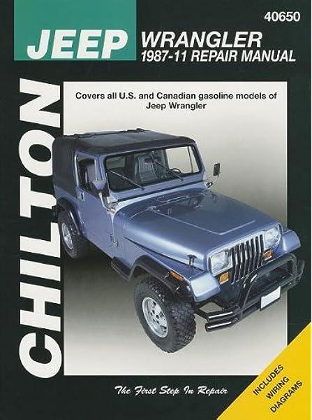 Chilton Total Car Care Jeep Wrangler 1987-2011 Repair Manual (Chilton's  Total Care): Chilton: 9781563929847: Amazon.com: BooksAmazon.com
