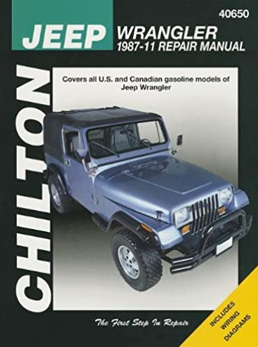 chilton total car care jeep wrangler 1987 2011 repair manual rh amazon com 88 YJ Wrangler 88 YJ Interior