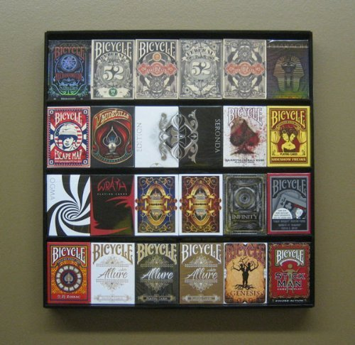 The Playing Card Frame - 24 Deck Acrylic Playing Card Display by Collectable Playing Cards