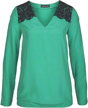 Melrose Blusa para mujer, color verde y negro verde-negro 46 ...