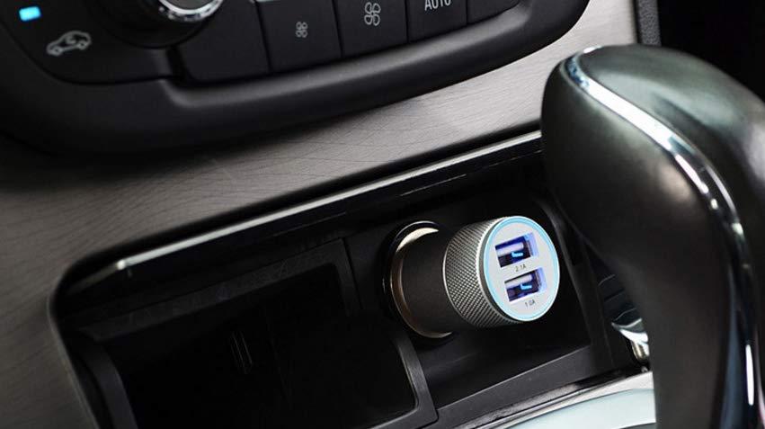 Shot Case - Adaptateur USB Prise Allume Cigare pour HTC 10 Double 2 Ports Voiture Chargeur Or Universel