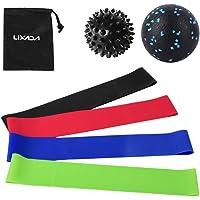 Andoer Conjunto de faixas de malha de resistência para exercícios com bola Fascial Bola espetada bolas de massagem…