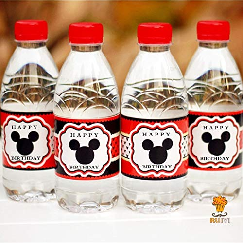 Party DIY Decorations|24pcs Mickey Mouse Water Bottle Label Candy bar Decoration Kids Birthday Party Supplies Baby Shower Party Favor AW-0604|by ATUKI]()