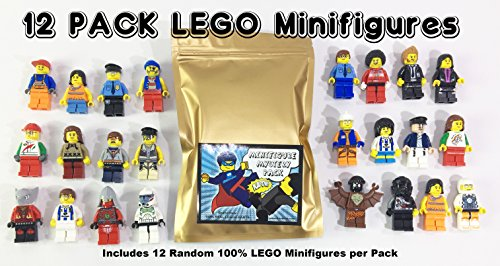 12 Random Lego Minifigures - Brand New - Excellent Assortment of Mini Figs w/all Body Parts; Hat, Hair or Helmet. New High Quality Lego Product