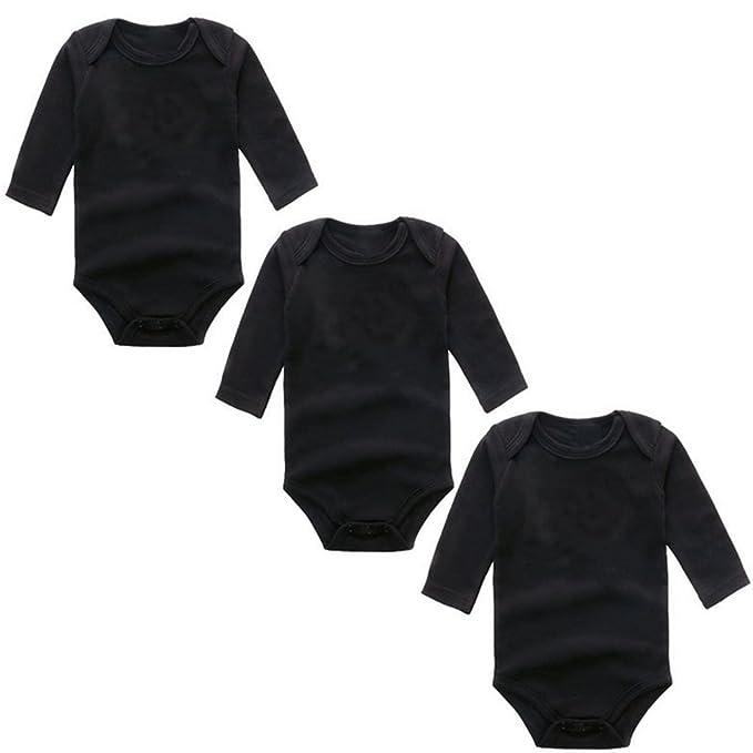 f5aa3daa5a2 BINIDUCKLING Baby Girls Bodysuit 3-Pack Long Sleeve  Amazon.co.uk  Clothing