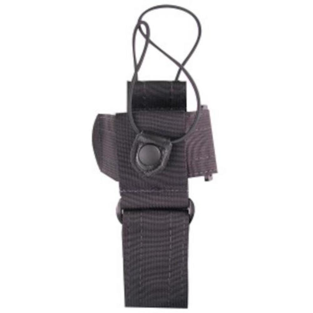 Uncle Mike's Law Enforcement 88804 Kodra Duty Nylon Web Universal Radio Case with Fixed Belt Loop, Black