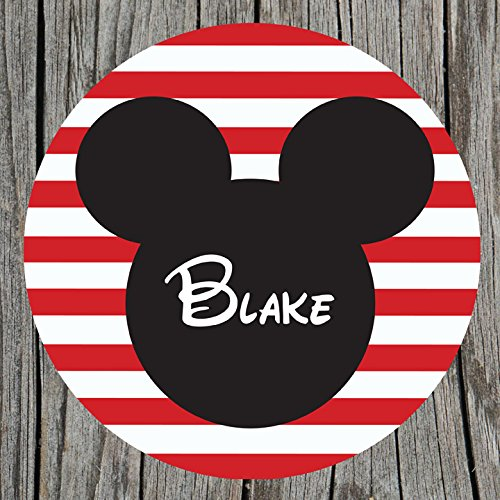 Mouse Ears Personalized Melamine Plate