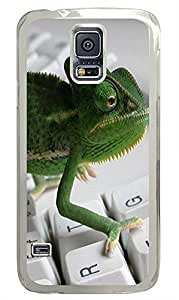 Samsung S5 carrying cover Chameleon Surfer Animal PC Transparent Custom Samsung Galaxy S5 Case Cover by icecream design