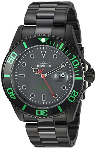 Invicta Men's 'Pro Diver' Quartz Stainless Steel Diving Watch, Color:Black (Model: 23009) by Invicta