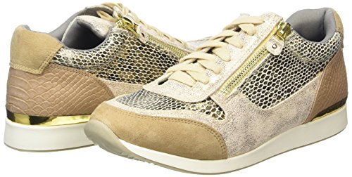 La Strada Gold Snake Leather Look Sneaker - Zapatillas Mujer Dorado - Gold (2206 - snake gold)