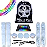 UltraPoi - Helix Poi with UltraKnobs - LED Poi Set - Best Light Up Glow Poi - Flow Rave Dance - Spinning Light Toy