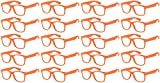Lot of 20 Pairs Kids Clear Lens Sunglasses Protect Child's Eyes Orange
