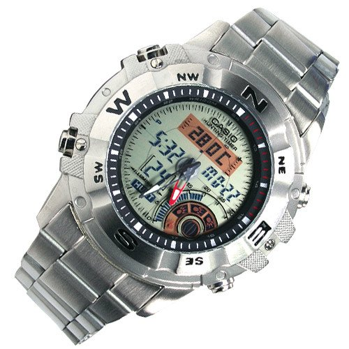 Authentic NEW CASIO AMW-704D-7A MOON PHASE HUNTING TIMER THERMOMETER MEN'S WATCH (Timer Hunting)