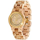 WeWood Women's Criss MB Wood Watch (Henne Beige Gold)