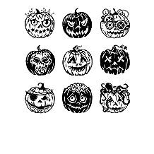 Inkadinkado Clear Stamps, Pumpkin Faces Inchie Bundle