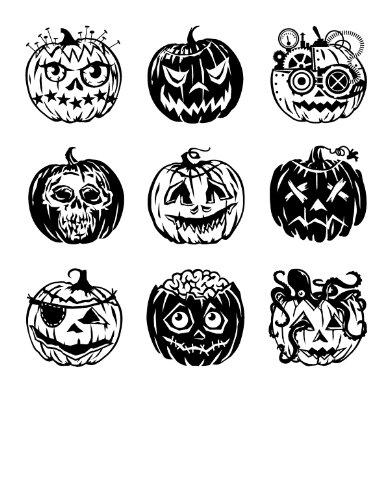 Inkadinkado Pumpkin - Inkadinkado Clear Stamps, Pumpkin Faces Inchie Bundle