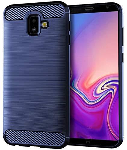 Samsung Galaxy J6 Plus Case,Samsung Galaxy J6 Prime Case,Samsung Galaxy J6+ Case, Sucnakp TPU Shock Absorption Technology Raised Bezels Protective Case Cover Samsung Galaxy J6+ (TPU Blue)
