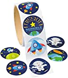 Space Stickers (100 Pack) 1 1/2