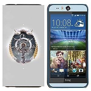 TECHCASE---Cubierta de la caja de protección para la piel dura ** HTC Desire Eye ( M910x ) ** --Rueda de la nave